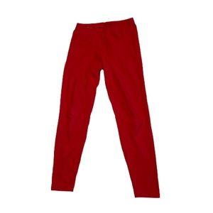 American Apparel Red Stretch Cotton Leggings - Women's Size Small